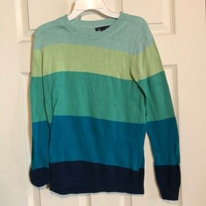Gap Crewneck Sweater Striped Blue Women's XS